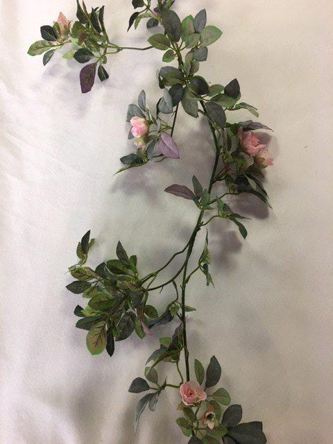 Mini Emily Rose Garland – Pink – Artificial 6Ft_640x480