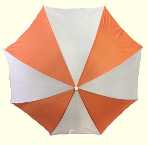 Orange and White Beach Umbrella_491x480