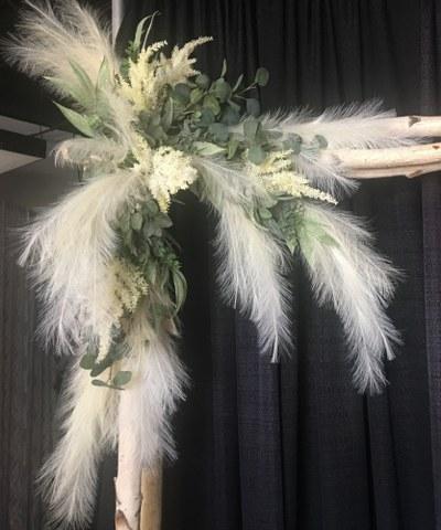 Artificial Eucalyptus Pampas Grass Boho Spray_400x480